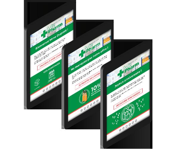 Campagnes mail sur tablette dans le cadre du programme de fidélisation