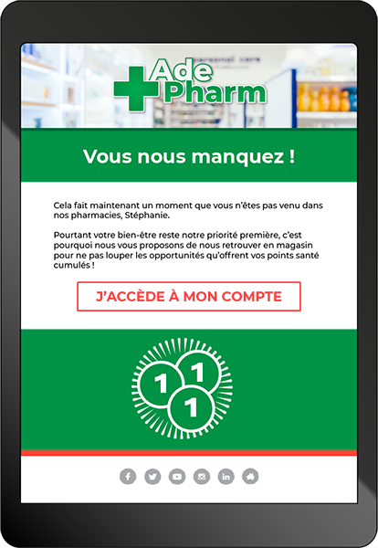 Mail relance tablette